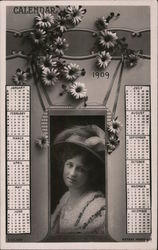 Calendar 1909 - A Woman with a Large Hat