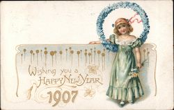 Wishing you a Happy New Year-1907