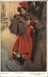 A Woman in a Red Dress