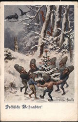 Seven Gnomes Dancing Around a Christmas Tree