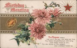 Topaz: Birthday Greeting Postcard