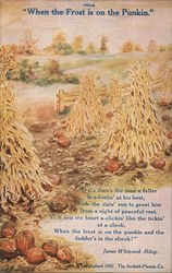 "From ""When the Frost is on the Pumpkin"" by James Whitcomb Riley"