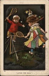 Children Playing Tennis: After the Ball