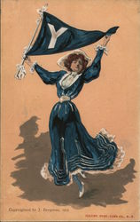 Old Timey Yale Cheerleader