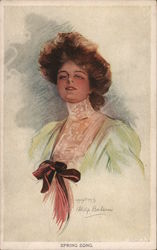 A Woman With Big Hair and a Large Bow on her Dress