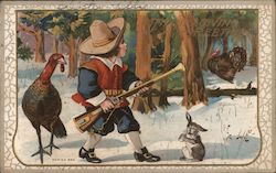 Young Boy Hunting: Thanksgiving Greetings
