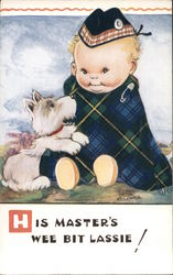 His Master's Wee Bit Lassie - A Child with a Dog