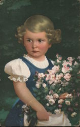 A Young Girl with Flowers