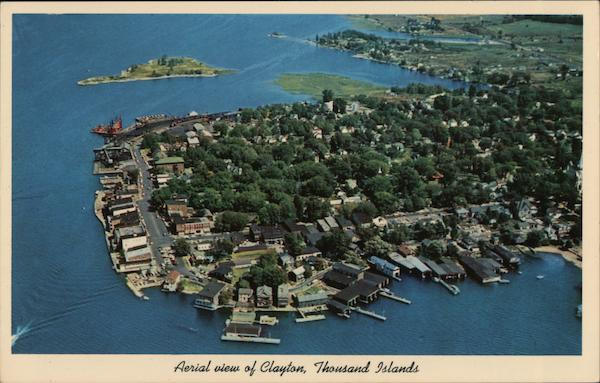 Aerial view of Clayton, Thousand Islands New York