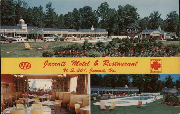 Jarratt Motel & Restaurant Virginia Jim E. Hess