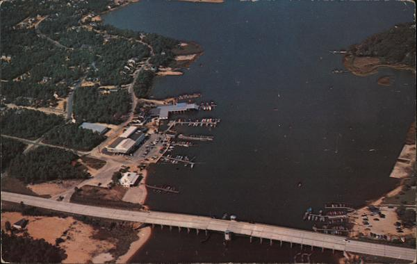 Aerial View of the Upper Manasquan River Bridge Point Pleasant New Jersey