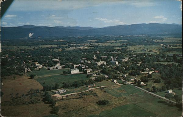 Aerial View of Town Middlebury Vermont