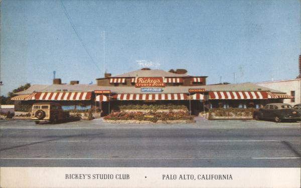 Rickey's Studio Club, Un El Camino Palo Alto California