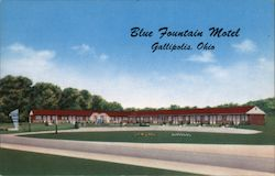 Blue Fountain Motel Postcard