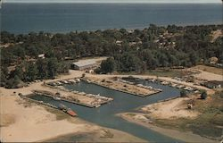 Jerry's Marina, Tawas Point Postcard