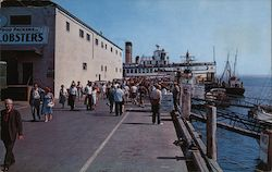 Boston Boat Landing at Town Pier Postcard