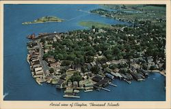 Aerial view of Clayton, Thousand Islands