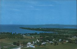 Aerial View of South Hero and Kellogg's Bay Postcard