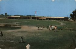 Modern Golf Clubhouse Postcard