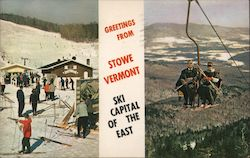 Greetings From Stowe, Vermont Postcard