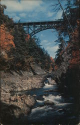 Quechee Gorge and Bridge Postcard