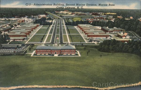 Administration Building, Second Marine Division, Marine Base Camp Lejeune North Carolina