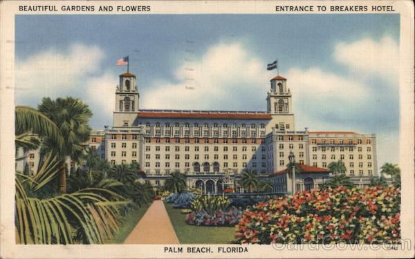 Entrance to Breakers Hotel Palm Beach Florida
