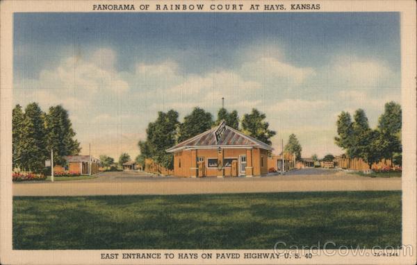 Panorama of Rainbow Court Hays Kansas