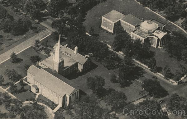 Air View of First Baptist Church and American Antiquarian Society Worcester Massachusetts