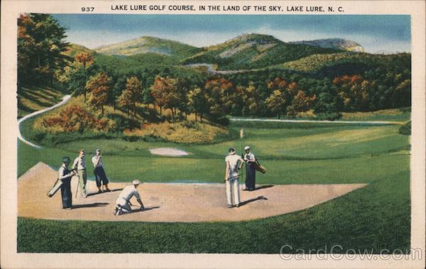 Golf Course in the Land of the Sky Lake Lure North Carolina