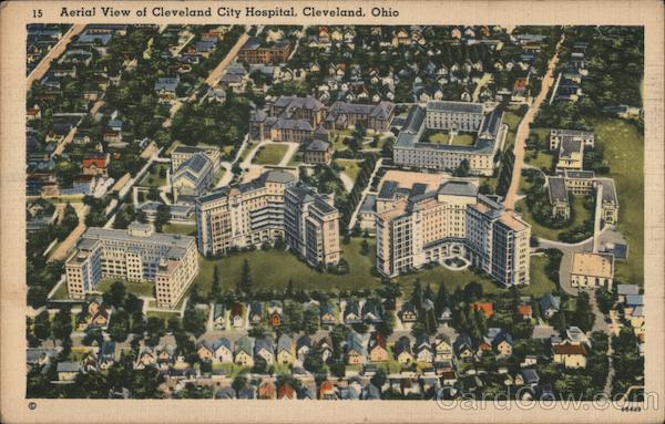 Aerial View of Cleveland City Hospital Ohio