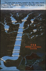 TVA Water Control System Map Postcard