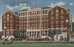 Hotel Van Curler at Entrance to the Great Western Gateway Postcard