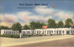 Fort Sumter Motor Court Postcard