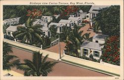 Birdseye view Cactus Terrace, Key West, Florida.