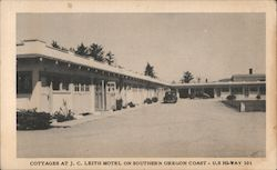 Cottages at J.C. Leith Motel on Southern Oregon Coast Postcard