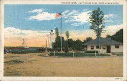 Tourist Camp, Light House Park Postcard