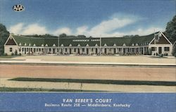 Van Beber's Court, Business Route 25E Postcard