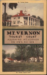 Mt. Vernon Tourist Court and Restaurant Postcard