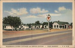 Wilkerson's Tourist Cottages and Service Station Postcard