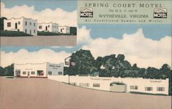 Spring Court Motel Postcard
