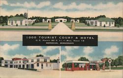1000 Tourist Court & Motel Postcard
