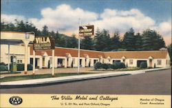 The Villa Motel and Cottages Postcard