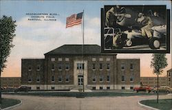 Headquarters Building, Chanute Field Postcard