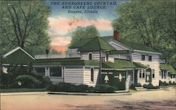 The Evergreens Cocktail and Cafe Lounge Postcard