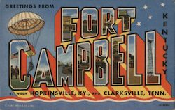 Greetings From Fort Campbell, Kentucky Postcard