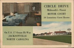 Circle Drive - Midsouth's Finest Motor Court Postcard