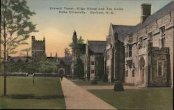 Crowell Tower, Kilgo House and The Union Duke University Postcard