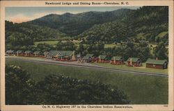 Newfound Lodge and Dining Room Postcard