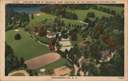 Airplane View of Brandeis Camp Institue of the South on Highland Lake